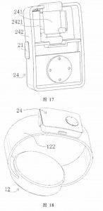 Huawei Smartwatch Concept Holds Bluetooth Earbuds Patent Technical Drawing 1_compressed