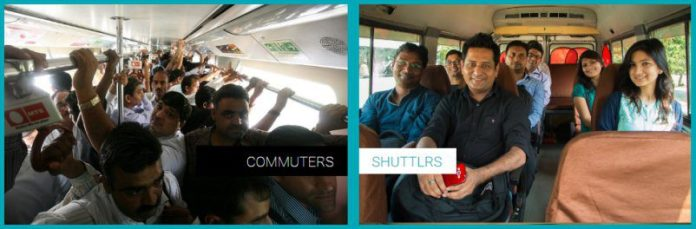 Shuttl Users Interior India Bus Hailing Tech Enabled Service VC Backed Startup Delhi Commute