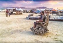 Playa Crawler Mark Ellis Walking Wheelchair Kinetic Art Burning Man