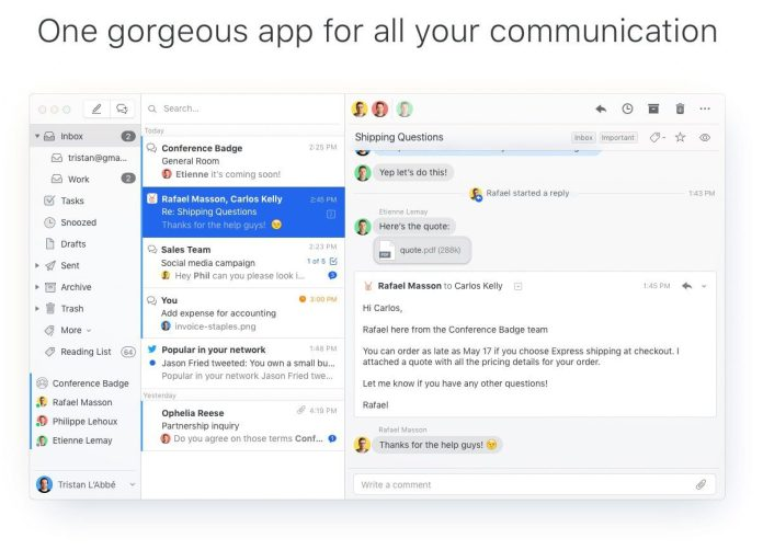 Missive App Mail Solution Collaboration Tool Startup Screenshots