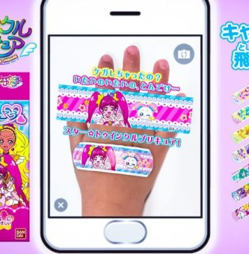 Bandai Namco Group Bandaid Augmented Reality AR Anime Themed PreCure Sentai Cute Kawaii Kids MedTech Psychological Effect Children Healing