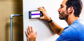 Walabot DIY Man Using App To Scan Walls For Metal And Other Issues