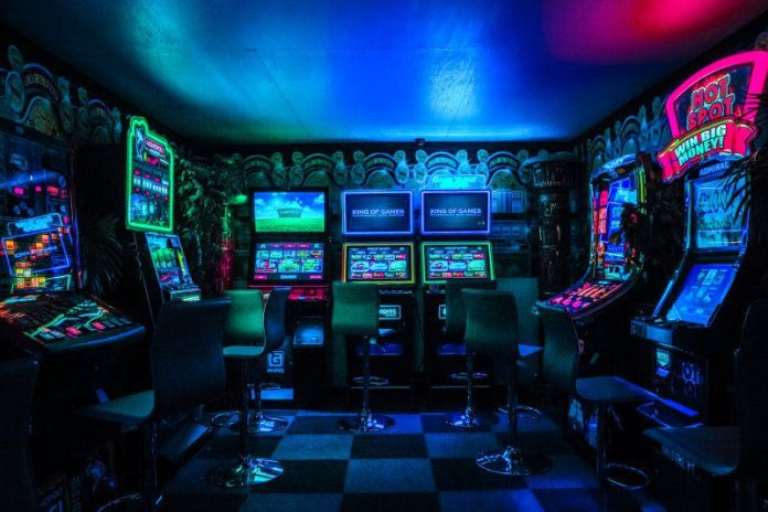 Casino Slots Arcade Games Colorful Blue Lighting Loot Box Controversy EA