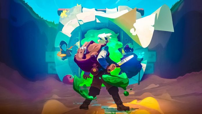 Moonlighter Review ARPG Roguelike Storekeeping Simulation Fantasy Village Dungeon Crawling Game Key Art Will