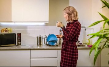 RBS NatWest Banking With Your Voice FinTech Google Home Assistant Woman Kitchen Finance Tech