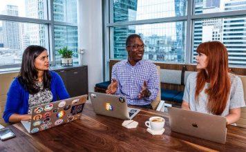 Slack Offices Team Working Together Microsoft Teams Comparison Crop