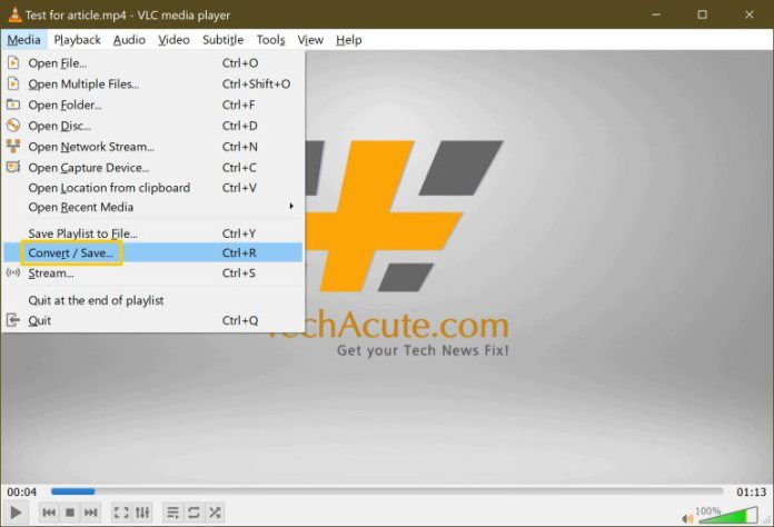 Batch-Convert Mov To Mp4 Video Conversion Free Easy VLC Step 2