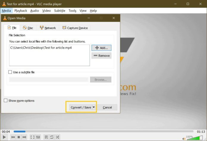 Batch-Convert Bulk Mov To Mp4 Video Conversion Free Easy VLC Step 4