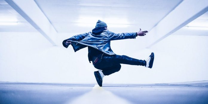 Male Dancer Photo Jeans Jacket Urban Fashion
