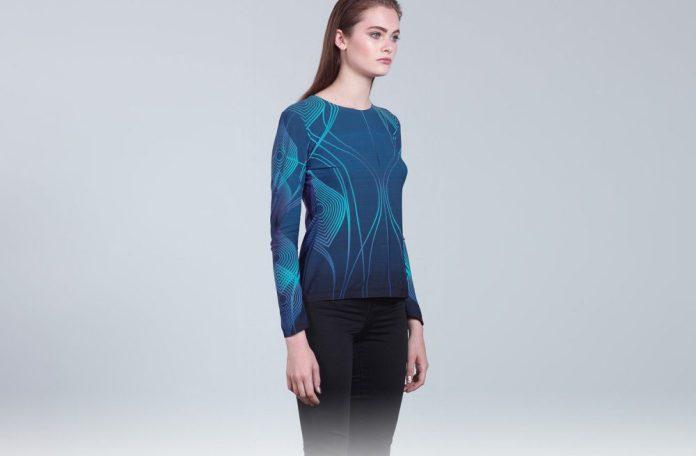 cutecircuit soundshirt music fashion tech sound clothing shirt model shot
