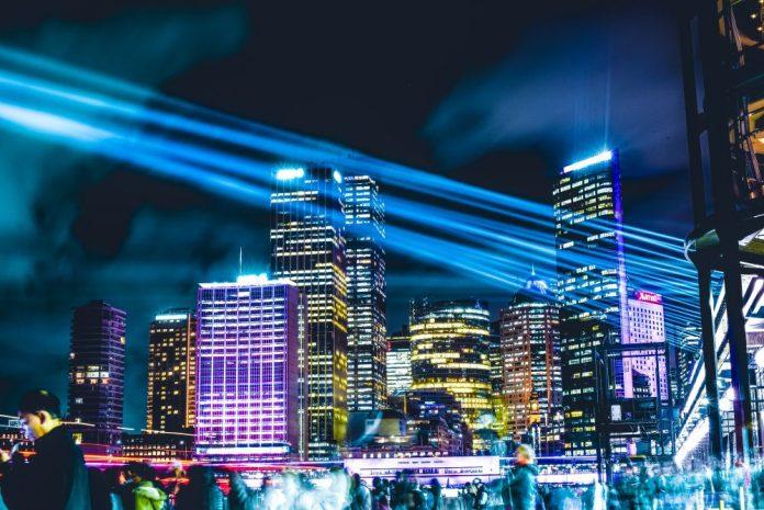 Australia Vivid Lights Festival Sydney IoT 5G Smart Cities Photo Urban Night
