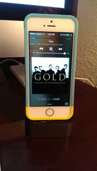 iPhone 5S with Elago Glide case