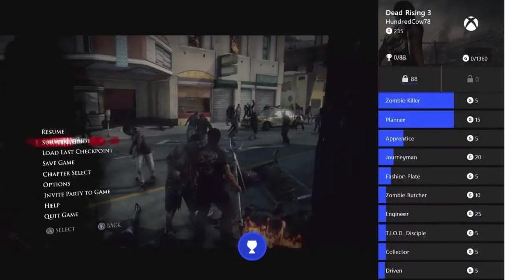 Xbox One Achievement Snap Screenshot