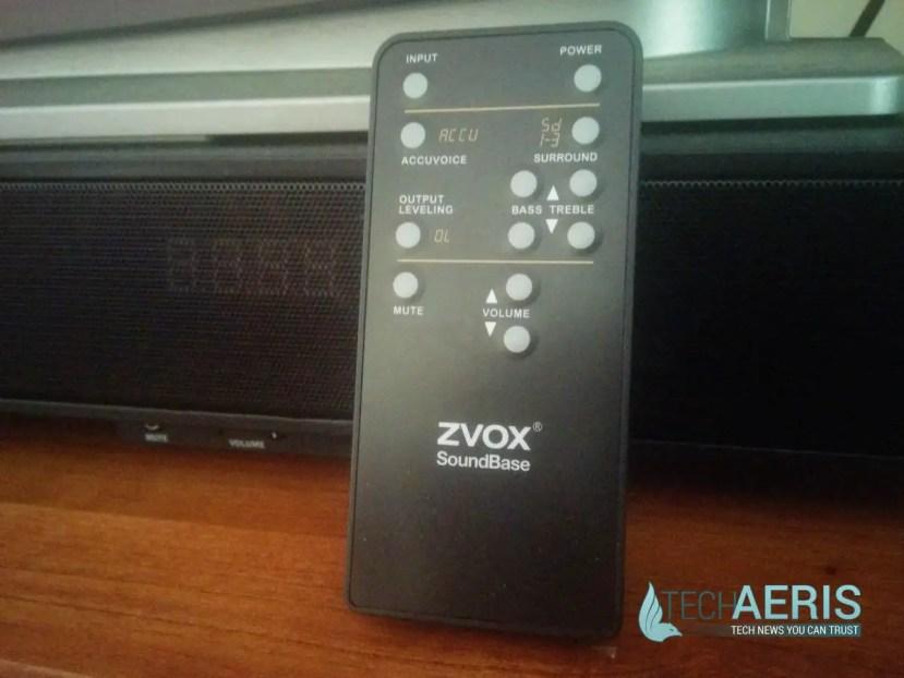 ZVOX Soundbase 570 Remote and Display