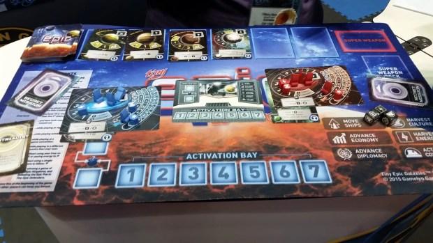 Tiny Epic Galaxies game and mat