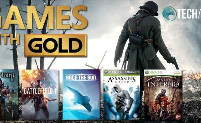 November Games With Gold Battlefield 1 Assassin S Creed