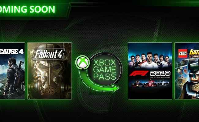 Xbox Game Pass March Update Just Cause 4 Fallout 4 And
