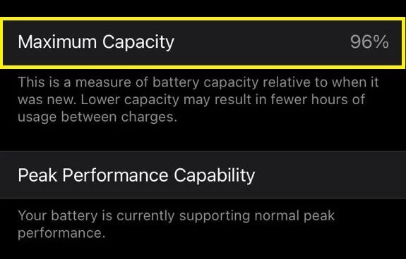 I have iPhone XS Max with 96% battery health