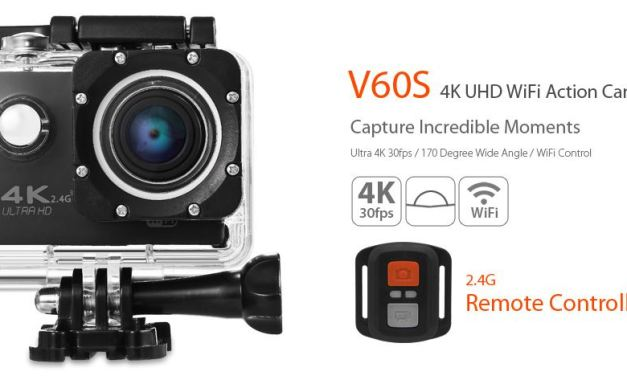Cámara Deportiva V60S 4K UHD – A buen precio