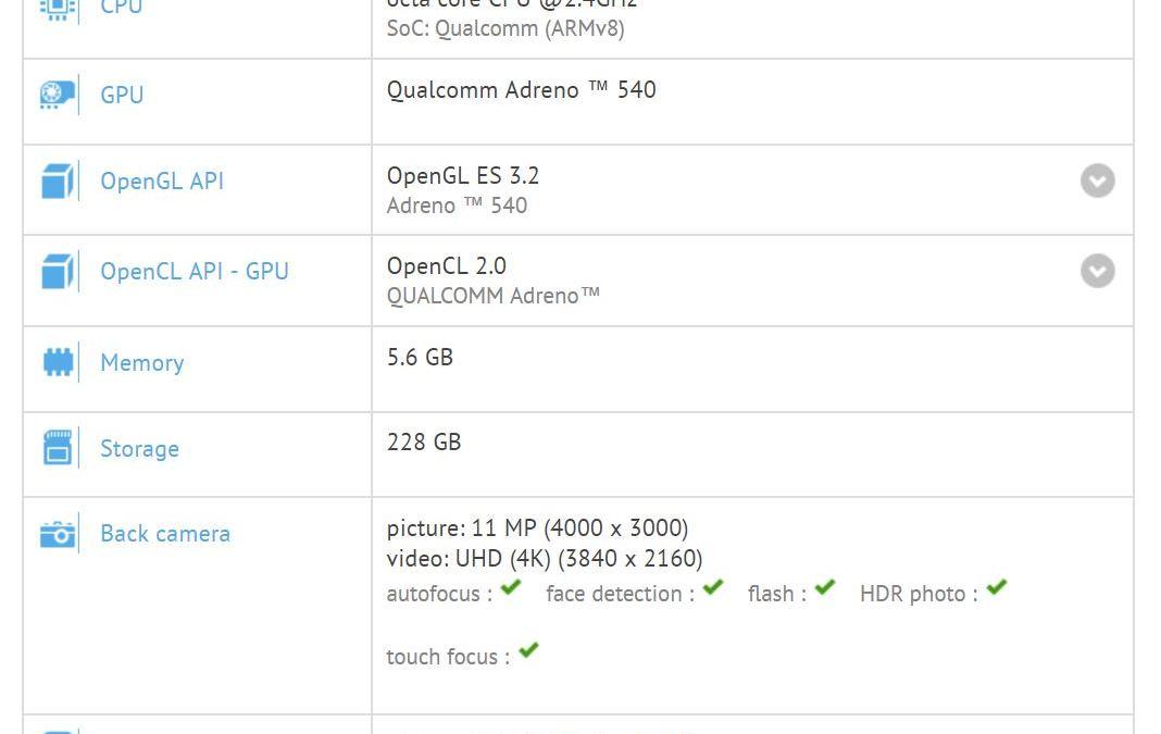 Xiaomi Chiron filtrado con Snapdragon 835 y 6 GB de RAM