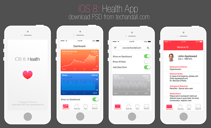 iphone app mockup - April.onthemarch.co