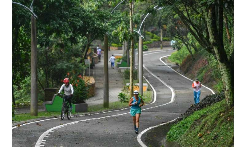 """Medellin, Colombia's second-biggest city, added 30 tree- and flower-filled """"corridors"""", connecting up with existing gr"""