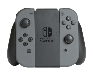 Joy-Con Controllers attached to Grip