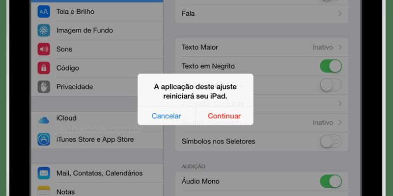Reiniciar iPad- iOS8