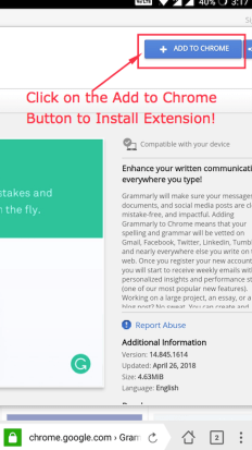 Navigate to the Extension page on Chrome App Store