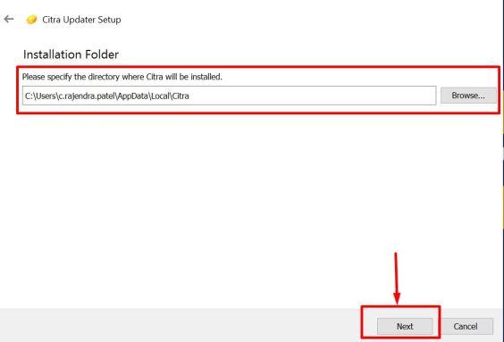 Citra 3DS Emulator for Windows 10 / 7 / 8.1 Installation Screen
