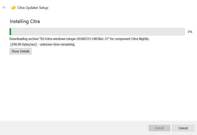 Citra 3D emulator Installation on Windows
