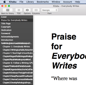 Kitabu ePub reader for Mac OS X