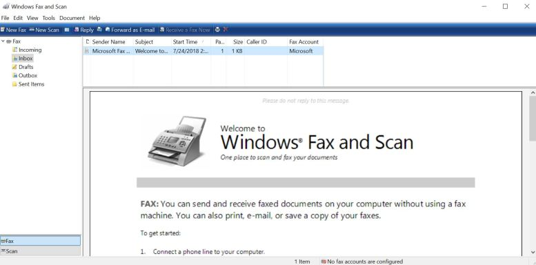 Windows Fax & Scan Utitlity
