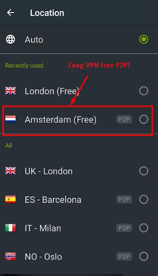 Zoog VPN has a free P2P torrent Server