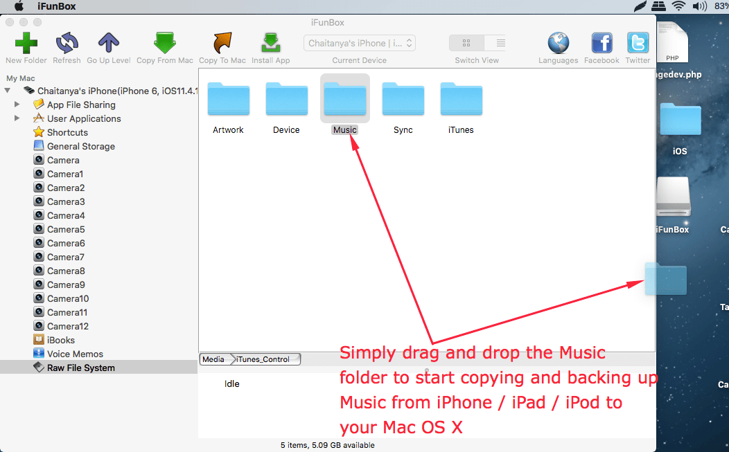 How to Transfer or Copy Music from iPhone & iPad to Mac OS X