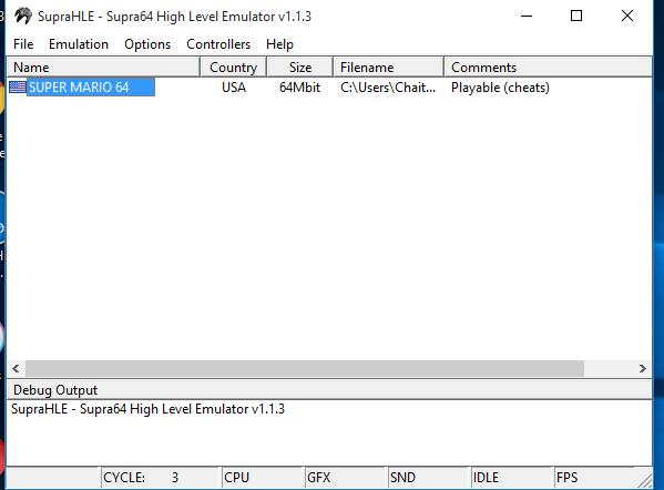 Supra HLE N64 Emulator for PC / Windows