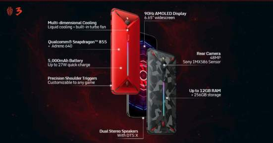 Red Magic 3 gaming phone with SD855, 90Hz display, 5000mAh battery launched in India