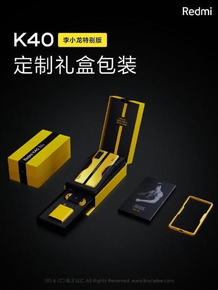 Redmi K40 gaming phone Bruce Lee edition