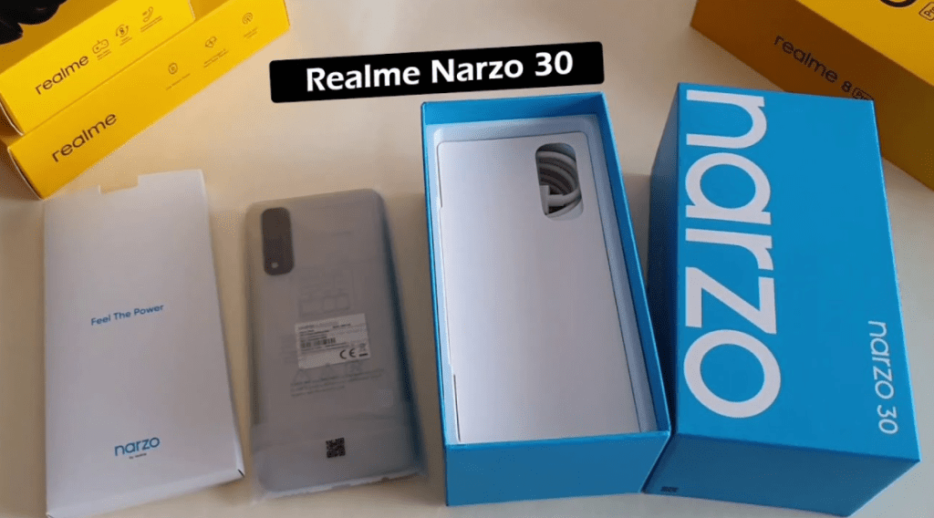 Realme Narzo 30 unboxing during the review