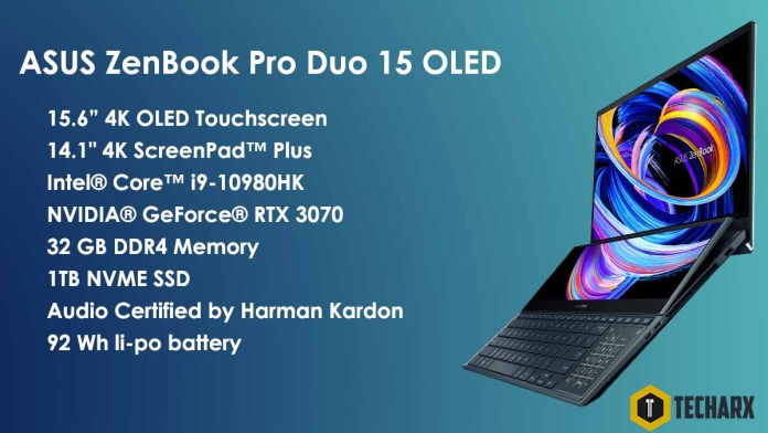 ASUS Zenbook Pro Duo 15 OLED Specifications