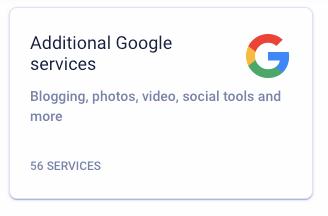 Google admin console Additional Google services