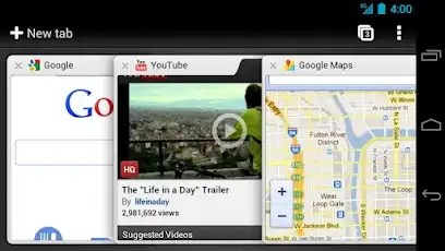 Google Chrome for Tablets on Android