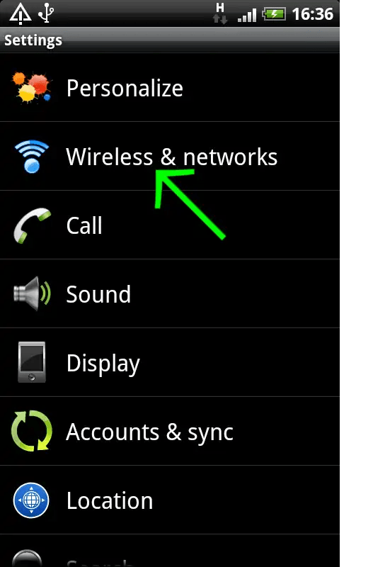 vpntraffic for android settings