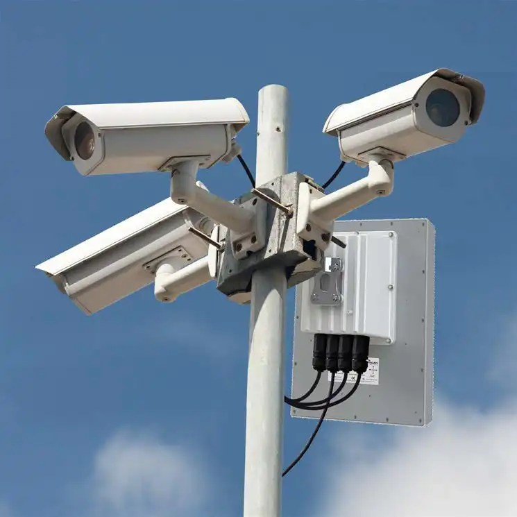 Surveillance IP camera, also known as CCTV system camera