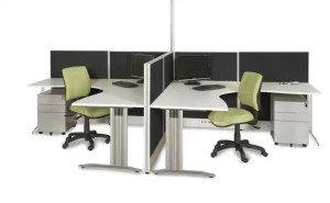 A double portion sydney office workstation for two people
