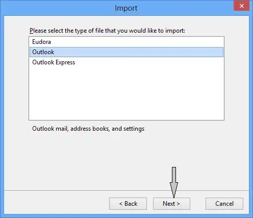 Choose OUTLOOK - Set As DEFAULT PROGRAMS - IMPORT - How to Migrate Outlook Emails With Ease