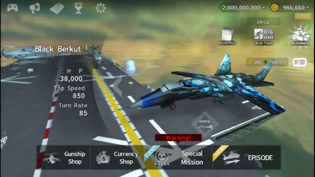 GUNSHIP BATTLE MOD APK gameplay