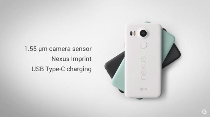 Nexus 5X colours.