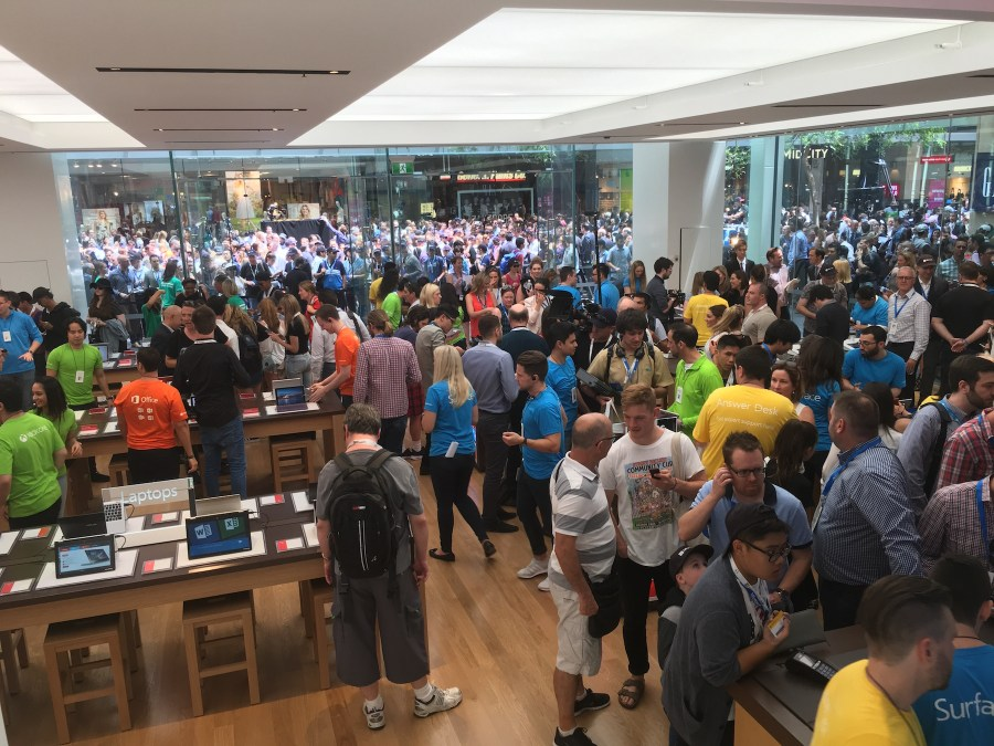Microsoft opens flagship Sydney store to much fanfare.