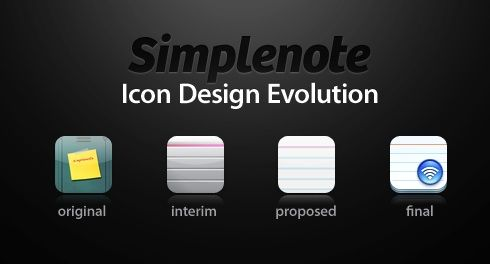 SimplenoteIconDesignEvolution